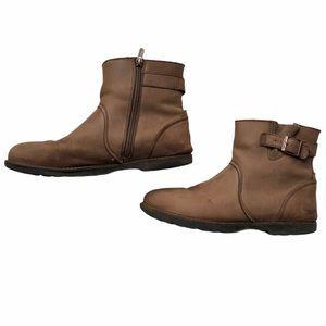 Birkenstock Stowe Brown Side Zip Boot